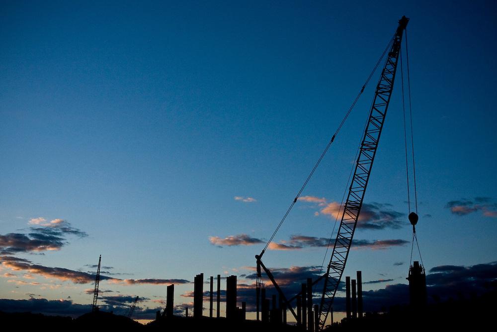 Jeceaba_MG, Brasil...Construcao de uma usina siderurgica em Jeceaba...The construction of the steel industry in Jeceaba...Foto: BRUNO MAGALHAES / NITRO
