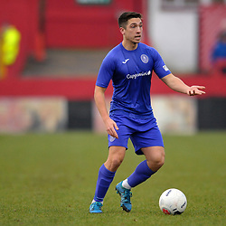 TELFORD COPYRIGHT MIKE SHERIDAN Adam Walker of Telford during the Vanarama Conference North fixture between AFC Telford United and Alfreton Town at The Impact Arena on Wednesday, January 1, 2020.<br /> <br /> Picture credit: Mike Sheridan/Ultrapress<br /> <br /> MS201920-038