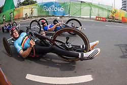 van de STEENE Jonas, H4, BEL, Cycling, Road Race, BOSREDON Mathieu, FRA à Rio 2016 Paralympic Games, Brazil