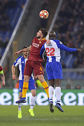 February 12, 2019 - Roma, Roma, Italia - Foto Luciano Rossi/AS Roma/ LaPresse.12/02/2019 Roma (Italia).Sport Calcio.AS Roma - Porto  .Uefa Champions League 2018 2019 - Stadio Olimpico di Roma.Nella foto: Bryan Cristante, Danilo..Photo  Luciano Rossi/AS Roma/ LaPresse.12/02/2019 Roma (Italia).Sport Soccer.AS Roma - Porto   .Uefa Champions League 2018 2019 - Olimpic Stadium of Roma (Italy).In the pic: Bryan Cristante, Danilo (Credit Image: © Luciano Rossi/Lapresse via ZUMA Press)
