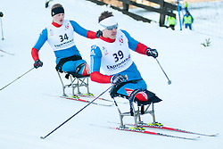 BYCHENOK Alexey, RUS, MURYGIN Grigory at the 2014 IPC Nordic Skiing World Cup Finals - Sprint