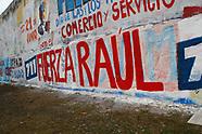 Pintada de muros en apoyo a Raúl Sendic.