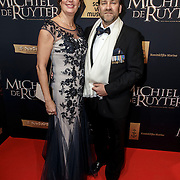 NLD/Amsterdam/20150126 - Premiere Michiel de Ruyter, cast, Frits de Ruyter de Wildt, familie Michiel de Ruyter