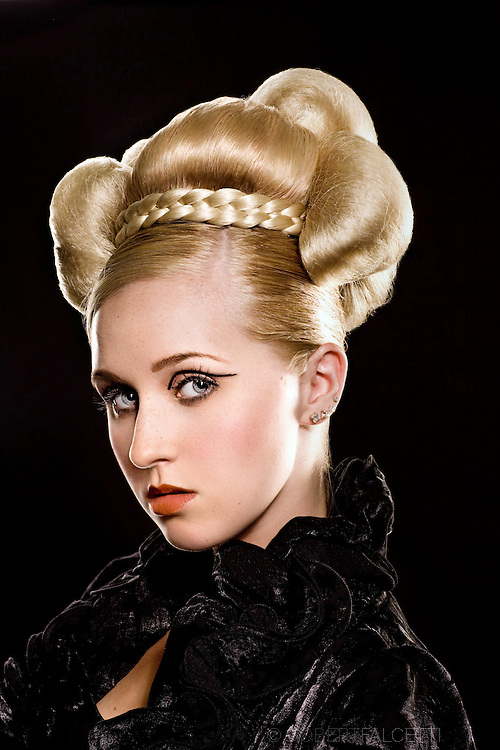 CONNECTICUT- August 2009: The Couture Cinderella theme was created for Salon Zurell. The work is being used as an advertising campaign and also as Zurell's entry for the North American Hairstyling Awards. (Photo by Robert Falcetti) . .