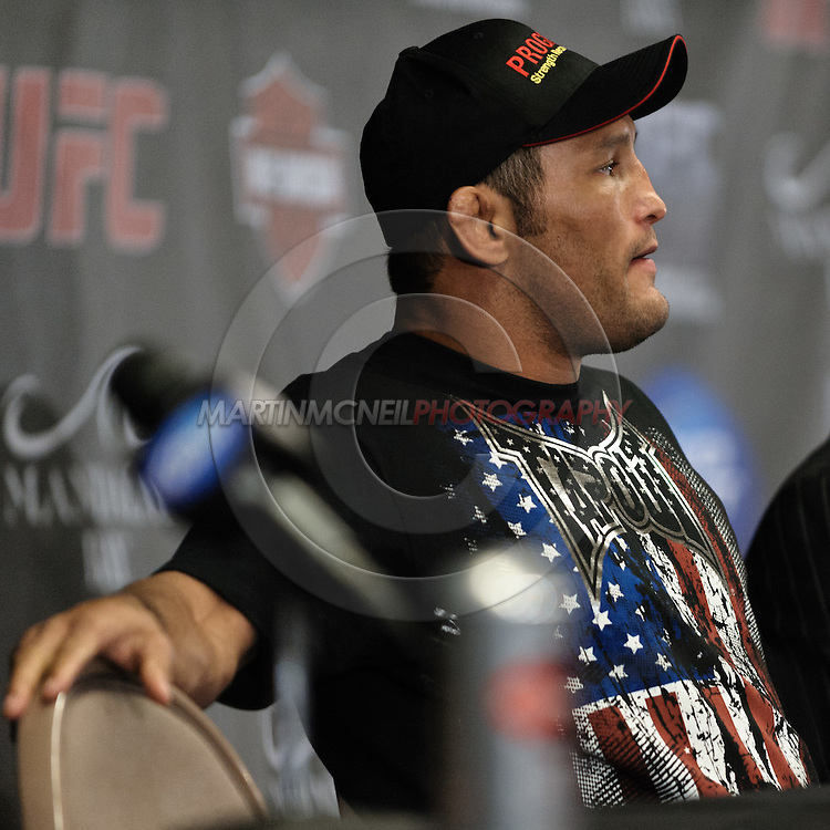 LAS VEGAS, NEVADA, JULY 11, 2009: Dan Henderson attends the post-fight press conference for UFC 100 inside the Mandalay Bay Events Center