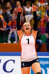 20140425 NED: Jong Oranje Vrouwen - Montenegro, Arnhem <br /> Janieke Popma (1) The Netherlands<br /> ©2014-FotoHoogendoorn.nl / Pim Waslander