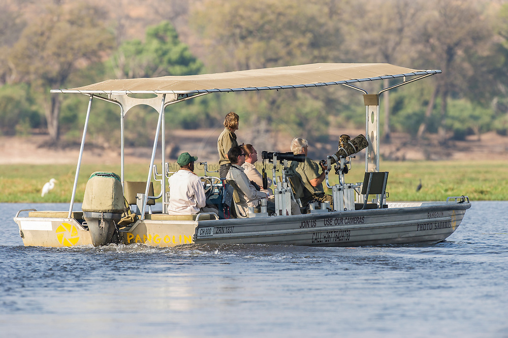 Pangolin Safaris Photographic River Boat, Chobe River, Kasane, Botswana.