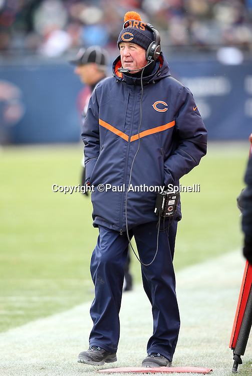 Chicago Bears head coach John Fox looks on from the sideline during the NFL week 17 regular season football game against the Detroit Lions on Sunday, Jan. 3, 2016 in Chicago. The Lions won the game 24-20. (©Paul Anthony Spinelli)