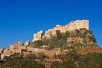 Yemen, région des Hauts Plateaux, village de Al Mahwit // Yemen, central mountains, Al Mahwit village.