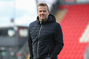 Forest Green Rovers manager, Mark Cooper during the EFL Sky Bet League 2 match between Exeter City and Forest Green Rovers at St James' Park, Exeter, England on 27 October 2018.