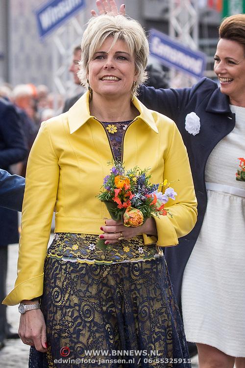 NLD/Groningen/20180427 - Koningsdag Groningen 2018, Prinses Laurentien