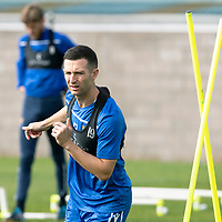 St Johnstone Training….<br />Jason Holt pictured during training at McDiarmid Park ahead of Sunday's game against Rangers<br />Picture by Graeme Hart.<br />Copyright Perthshire Picture Agency<br />Tel: 01738 623350  Mobile: 07990 594431