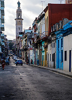 HAVANA, CUBA - CIRCA MARCH 2017: Typical view of the streets of Havana
