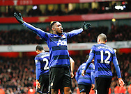 Picture by Andrew Tobin/Focus Images Ltd. 07710 761829. .21/01/12. Danny Welbeck (19) of Manchester United celebrates after scoring the winning goal during the Barclays Premier League match between Arsenal and Manchester United at Emirates Stadium, London.