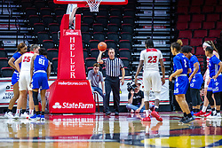 NORMAL, IL - January 03: Juliunn Redmond at the free throw line during a college women's basketball game between the ISU Redbirds and the Sycamores of Indiana State January 03 2020 at Redbird Arena in Normal, IL. (Photo by Alan Look)