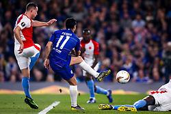 Pedro of Chelsea scores a goal to make it 4-1 - Mandatory by-line: Robbie Stephenson/JMP - 18/04/2019 - FOOTBALL - Stamford Bridge - London, England - Chelsea v Slavia Prague - UEFA Europa League Quarter Final 2nd Leg