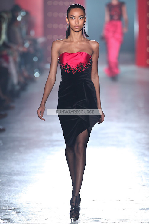 Anais Mali walks down runway for F2012 Jason Wu's collection in Mercedes Benz fashion week in New York on Feb 10, 2012 NYC