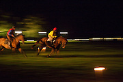 candlelit horserace, The Goodwood Ball. In aid of Gt. Ormond St. hospital. Goodwood House. 27 July 2011. <br /> <br />  , -DO NOT ARCHIVE-© Copyright Photograph by Dafydd Jones. 248 Clapham Rd. London SW9 0PZ. Tel 0207 820 0771. www.dafjones.com.