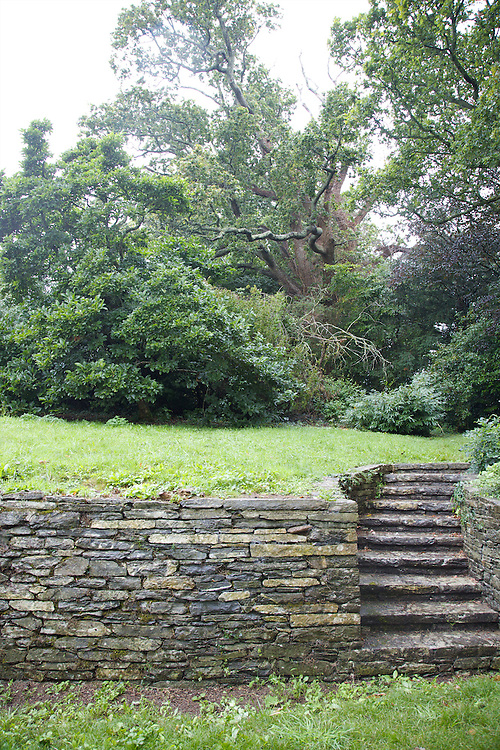 View of the back garden at Warren House, Wayne McGregor's Dartington Estate home in Devon<br /> Vanessa Berberian for The Wall Street Journal