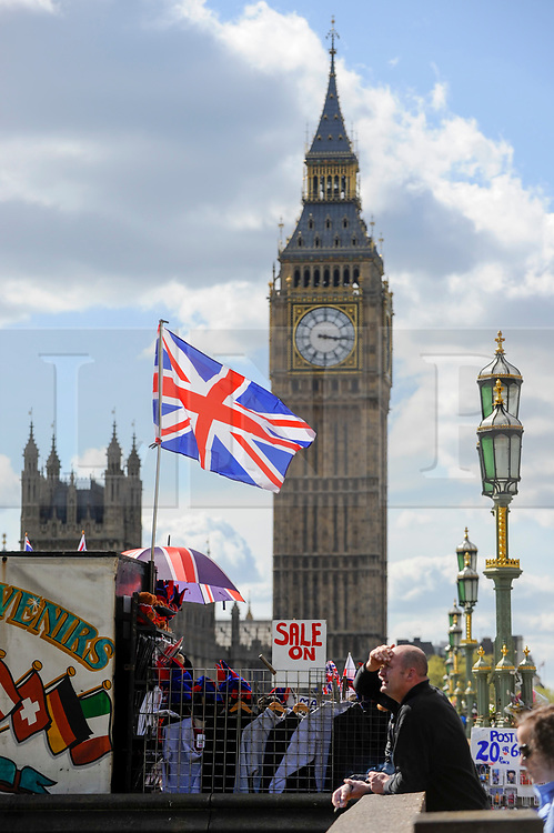 © Licensed to London News Pictures. 18/04/2017. London, UK. The Houses of Parliament are seen from Westminster Bridge on the day when Theresa May, Prime Minister, announced that a general election will be called on 8 June 2017. Photo credit : Stephen Chung/LNP