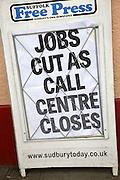 Local newspaper announce job cuts, Suffolk Free Press, Sudbury, England