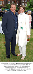 P Y GERBEAU and his fiancé TV presenter KATE SANDERSON, at a reception in London on 22nd June 2004.PWJ 17