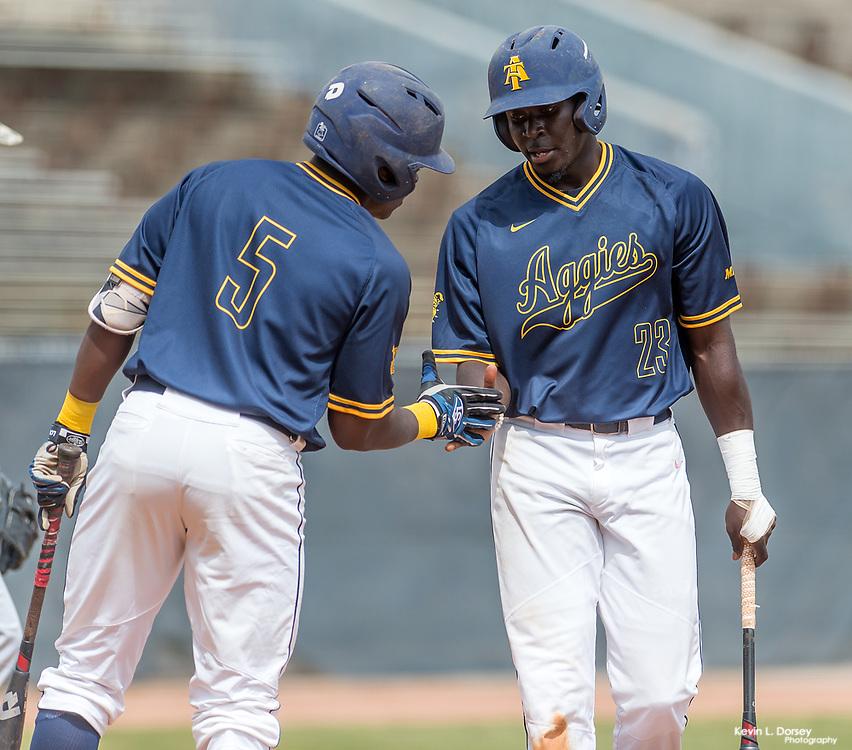 2016-17 A&T Baseball vs Bethune (DH) \ www.ncataggies.com - Photo by: Kevin L. Dorsey