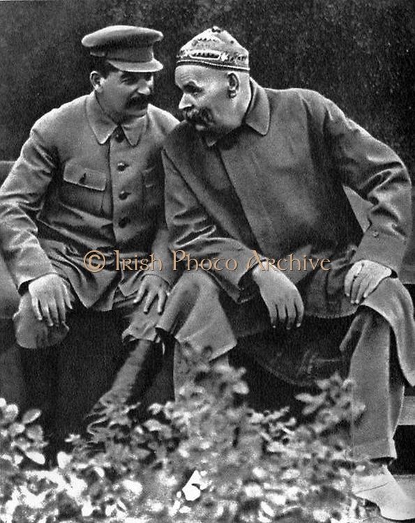 Stalin with Maxim Gorky