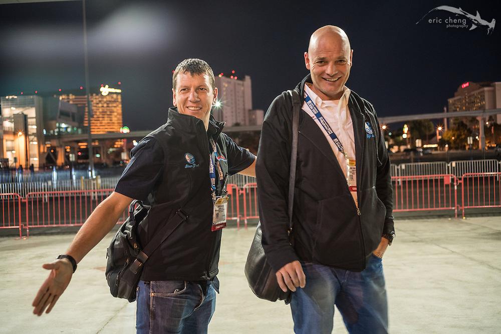 Siren Fleet's Mark Shandur and Frank Van Der Linde (DEMA 2016, Las Vegas)