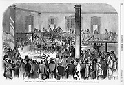The trial of John Brown at Charlestown, Virginia (now West Virginia) Pre Civil War Virginia. The effects of John Brown's Invasion of the South to spark a slave rebellion by seizing the arsenal at Harper's Ferry, Virginia (present day West Virginia ), just before the start of the Civil War. Harper's Weekly November 12, 1859 Illustrations by Porte Crayon (David Hunter Strother)