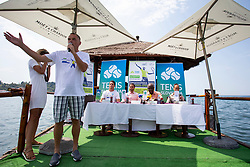 Gasper Bolhar at press conference of ATP Challenger Zavarovalnica Sava Slovenia Open 2018, on August 6, 2018 in Sports centre, Portoroz/Portorose, Slovenia. Photo by Urban Urbanc / Sportida