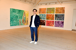 Artist Sassan Behnam-Bakhtiar at a preview of an exhibition of art by Sassan Behnam-Bakhtiar entitled 'Oneness Wholeness' held at the Saatchi Gallery, Duke of York's HQ, King's Rd, London, England. 14 May 2018.