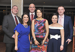 Joe and Lorraine Ryan, Liam and Michelle Heanue, Maeve O'Sullivan and Paul Ryan pictured at the Kilmeena Gaa Club's Valentine's dinner dance at the Westport Woods Hotel. <br />Pic Conor McKeown