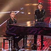 NLD/Hilversum//20170218 - Finale The Voice of Holland  2017,DJ Armin van Buuren, Thijs Pot en Vincenzo Tahapary