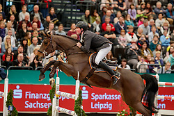 WERNKE Jan (GER), Queen Mary<br /> Leipzig - Partner Pferd 2020<br /> Championat von Leipzig<br /> Springprfg. mit Stechen, international<br /> Höhe: 1.50 m<br /> 18. Januar 2020<br /> © www.sportfotos-lafrentz.de/Stefan Lafrentz
