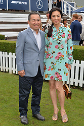VICHAI SRIVADDHANAPRABHA and SUPORNTHIP CHOUNGRANGSEE at the Laureus King Power Cup polo match held at Ham Polo Club, Richmond on 16th June 2016.