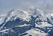 The 10,915 feet high Emigrant Peak can be seen from the Paradise Valley north of Yellowstone.