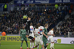 February 25, 2018 - Decines Charpieu - Groupama Sta, France - Mathieu Gorgelin et Mouctar Diakhaby  (Credit Image: © Panoramic via ZUMA Press)