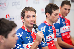 Gregor Gazvoda during press conference of KK Adria Mobil Cycling Club before new season 2018, on February 22, 2018 in Novo mesto, Slovenia. Photo by Vid Ponikvar / Sportida