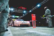 June 12-17, 2018: 24 hours of Le Mans. 92 Porsche GT Team, Porsche 911 RSR, Michael Christensen, Kevin Estre, Laurens Vanthoor , Pink Pig Porsche throwback livery