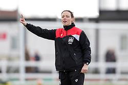 Bristol City Women's coach Lauren Smith - Mandatory byline: Rogan Thomson/JMP - 14/02/2016 - FOOTBALL - Stoke Gifford Stadium - Bristol, England - Bristol City Women v Queens Park Rangers Ladies - SSE Women's FA Cup Third Round Proper.