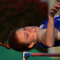 San Dimas's Hannah Nance finished fourth in the high jump during the CIF-SS Masters track and field meet in Falcon Stadium at Cerritos College in Norwalk, Calif., on Friday, May 29, 2015.