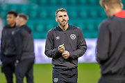 Michael Smith (#2) of Heart of Midlothian looks thoughtful ahead of the Ladbrokes Scottish Premiership match between Hibernian FC and Heart of Midlothian FC at Easter Road Stadium, Edinburgh, Scotland on 29 December 2018.