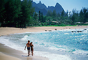 Couple on Beach, Kauai, Hawaii<br />