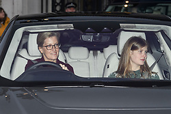 © Licensed to London News Pictures. 18/12/2019. London, UK. SOPHIE COUNTESS OF WESSEX and her daughter LADY LOUISE WINDSOR. Members of the Royal Family seen leaving Buckingham Palace in West London after attending the Queen's annual Christmas lunch. Photo credit: Ben Cawthra/LNP