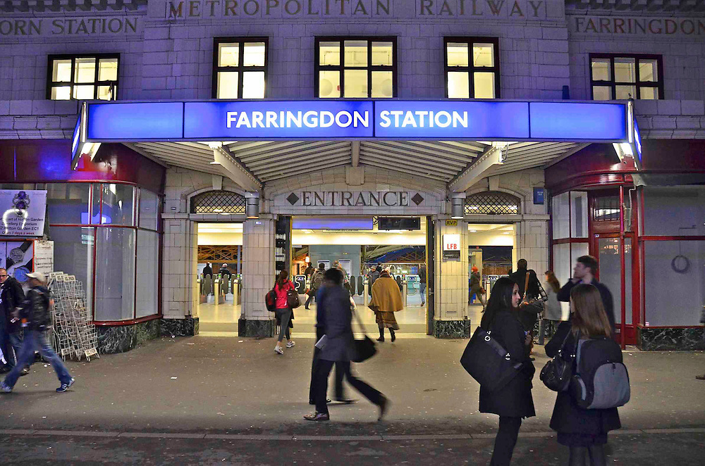 Farringdon Station New Refurbishment with old touchs retained