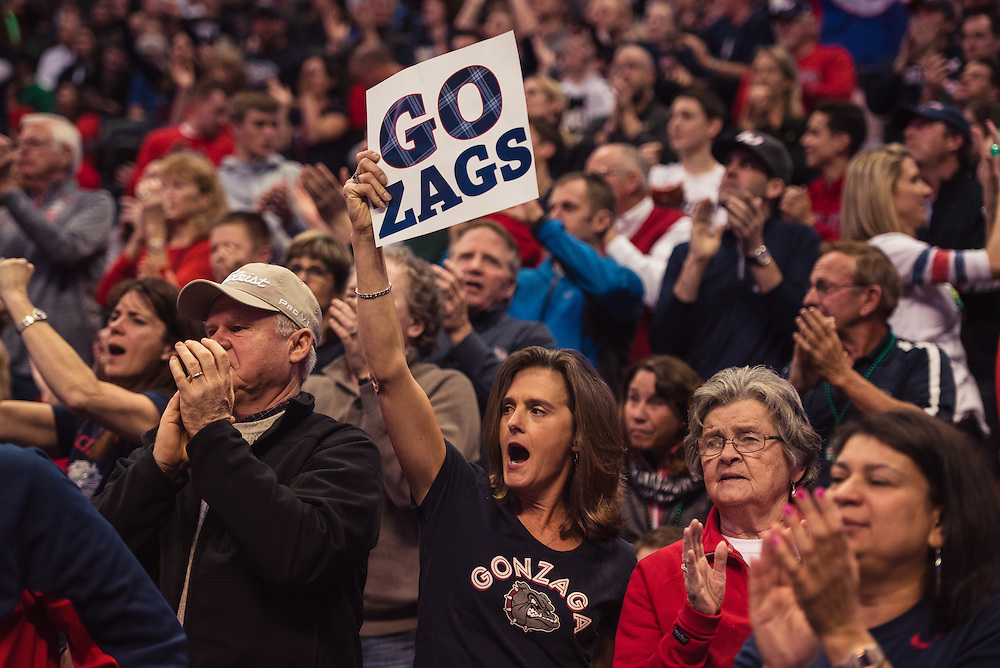 The Gonzaga Men's Basketball team faced off with Seton Hall on Thursday, March 17, 2016.
