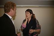 Tom Astor and Catherine Goodman. Rachel Kneebone private view. Madder Rose. Whitecross St. London EC1 22 June 2006. -DO NOT ARCHIVE-© Copyright Photograph by Dafydd Jones 66 Stockwell Park Rd. London SW9 0DA Tel 020 7733 0108 www.dafjones.com