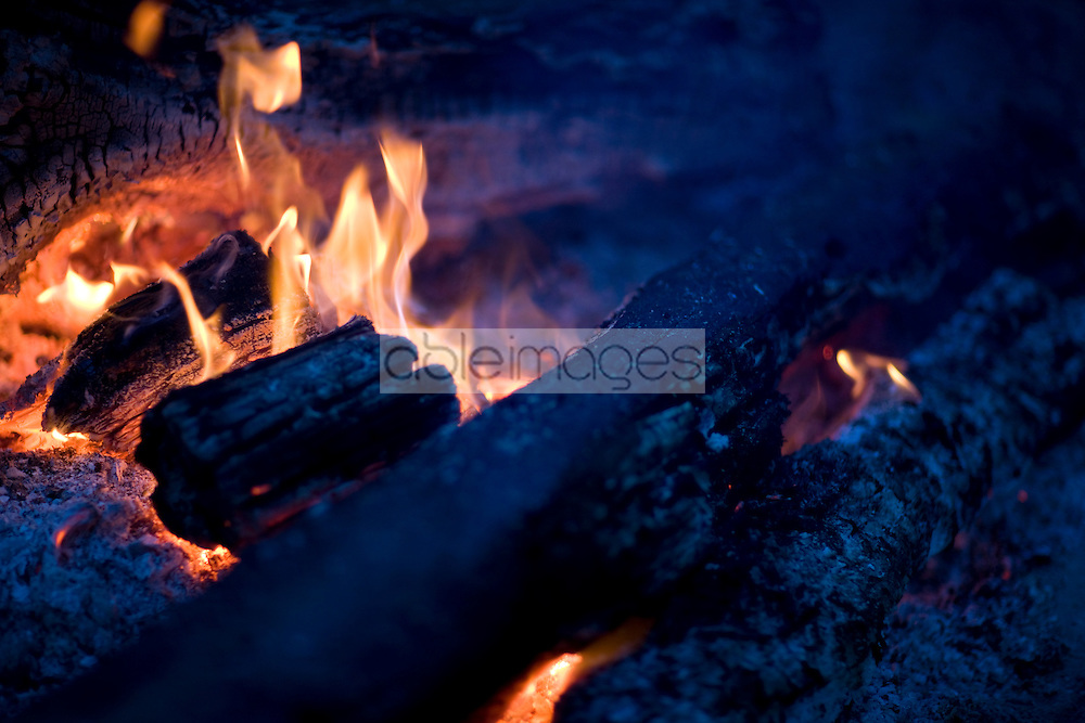 Embers and flames