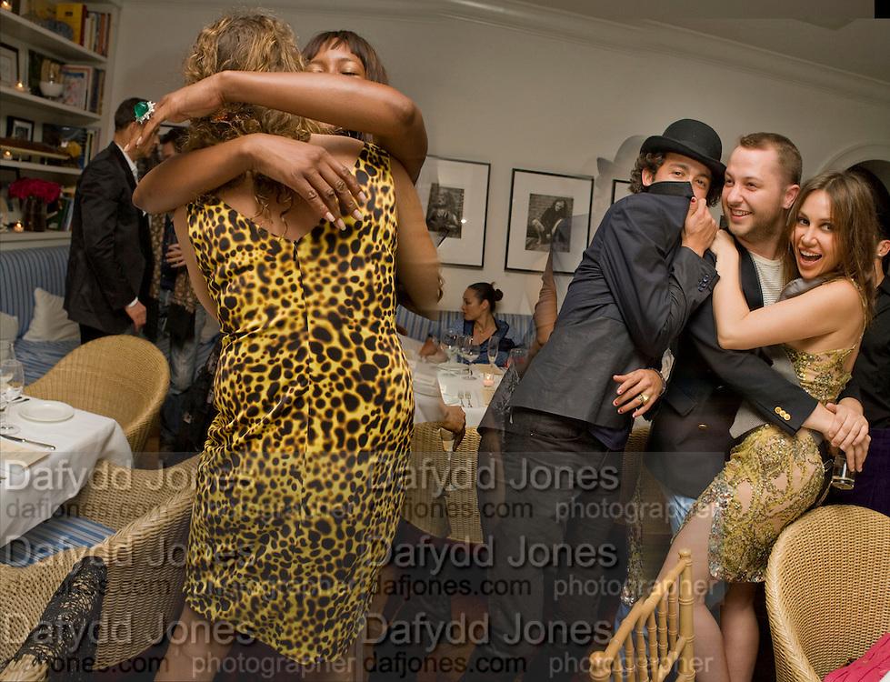 LOLA SCHNABEL; NAOMI CAMPBELL; ALEXANDER DEXTER-JONES; DEREK BLASBERG; FABIDA BERACASA Party hosted by Franca Sozzani and Remo Ruffini in honour of Bruce Weber to celebrate L'Uomo Vogue The Miami issuel by Bruce Weber. Casa Tua. James Avenue. Miami Beach. 5 December 2008
